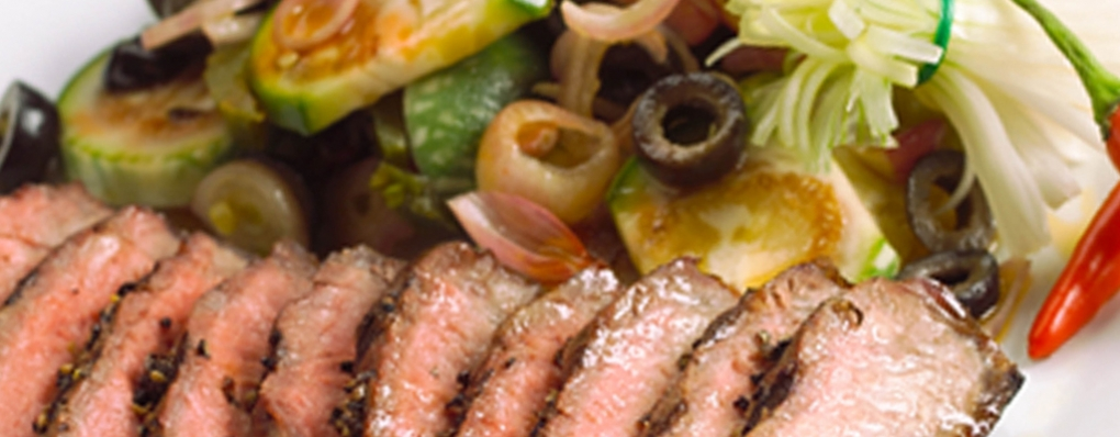 Grilled Beef with Anchovie Salad